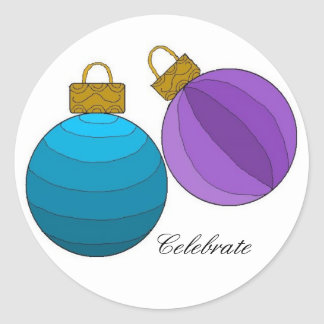 Celebrate with Holiday Decorations Classic Round Sticker