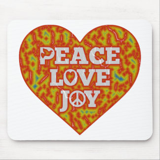 Celebrate with Peace Love and Joy Mouse Pad
