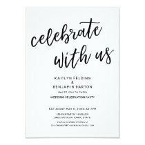 """Celebrate with Us"" Casual Modern Wedding Party Invitation"