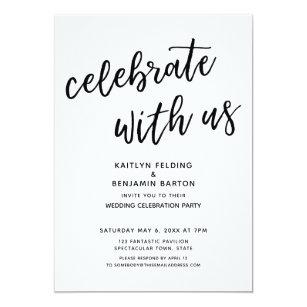casual reception wedding invitations zazzle