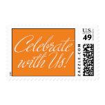 Celebrate With Us! - Orange Theme Postage