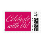 Celebrate With Us! - Pink Theme Postage