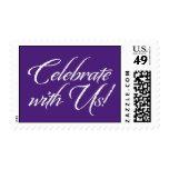 Celebrate With Us! - Purple Theme Postage