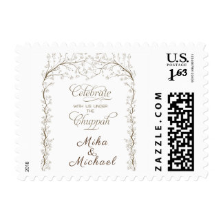 Celebrate with us Under the Chuppah - Jewish Stmap Postage