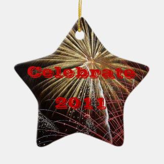 Celebrate - Year Customizable Ceramic Ornament