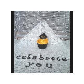 """Celebrate You"" close-up sleek wall frame Canvas Print"