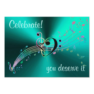 Celebrate! You Deserve It Music Themed Invitation