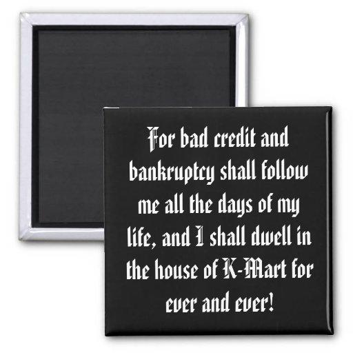 Celebrate Your Debt! Fridge Magnets