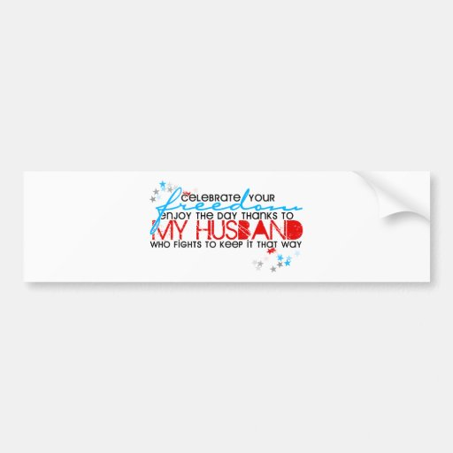 Celebrate your freedom bumper stickers