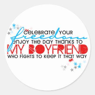 Celebrate your freedom classic round sticker