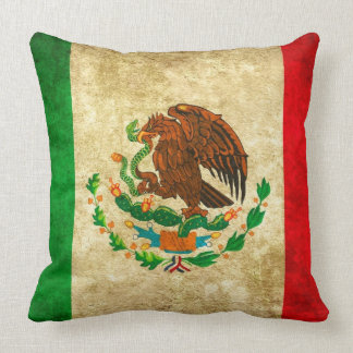 Celebrate your Heritage: Mexican Flag Throw Pillow