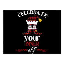 Celebrate Your Inner Elf Funny & Cute Buffalo Postcard