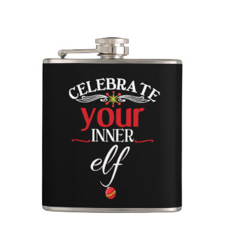 Celebrate Your Inner Elf Funny & Cute Christmas Flask