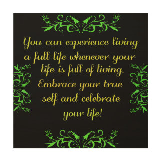Celebrate Your Life 2 Wood Wall Decor