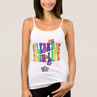 Celebrate your Life / flower power + your ideas Tank Top