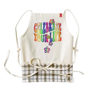 Celebrate your life + your backgr. & ideas zazzle HEART apron