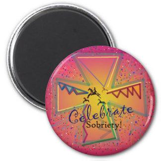 CelebrateSOBRIETY.png Imán Redondo 5 Cm