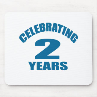 Celebrating 02 Years Birthday Designs Mouse Pad