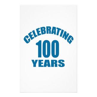 Celebrating 100 Years Birthday Designs Stationery