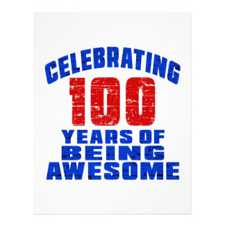 Celebrating 100 years of being awesome letterhead