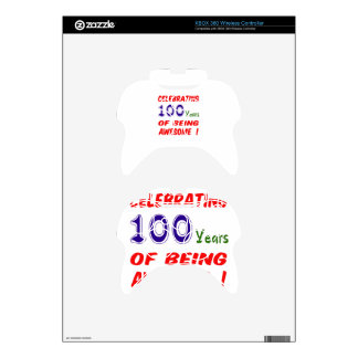Celebrating 100 years of being awesome ! xbox 360 controller decal