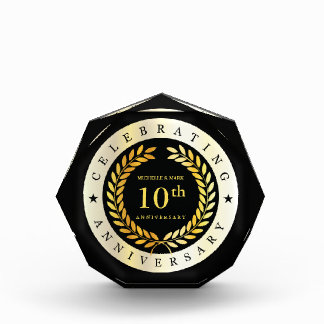 Celebrating 10th Anniversary. Customizable. Acrylic Award