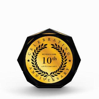 Celebrating 10th Anniversary. Customizable. Award