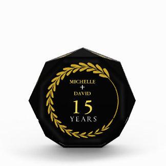 Celebrating 15th Anniversary. Customizable. Acrylic Award