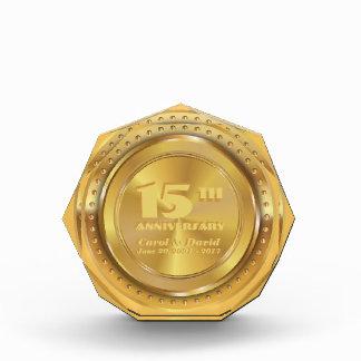 Celebrating 15th Anniversary. Customizable. Award