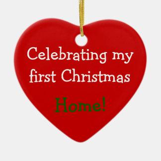 Celebrating 1st Christmas Home Ceramic Ornament