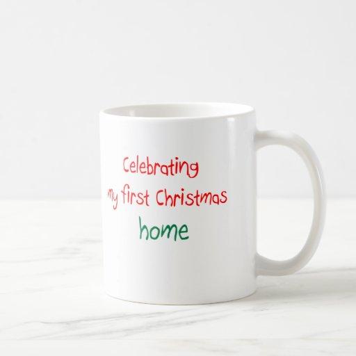 Celebrating 1st Christmas Home Classic White Coffee Mug