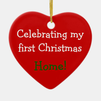 Celebrating 1st Christmas Home Ornament