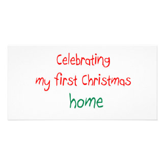 Celebrating 1st Christmas Home Photo Cards