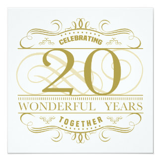 Celebrating 20th Anniversary Card