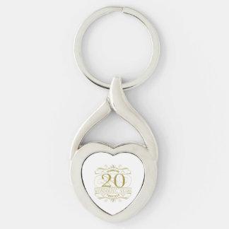 Celebrating 20th Anniversary Keychain