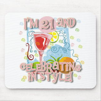 Celebrating 21 in Style Mouse Pad