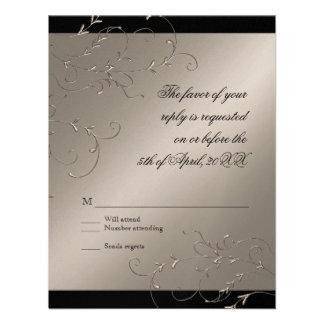 Celebrating 25 years RSVP Response Card Invitations