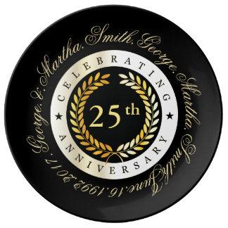 Celebrating 25th Anniversary. Porcelain Plate