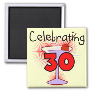 Celebrating 30 Tshirts and Gifts 2 Inch Square Magnet
