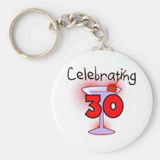 Celebrating 30 Tshirts and Gifts Basic Round Button Keychain