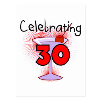 Celebrating 30 Tshirts and Gifts Postcard