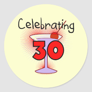 Celebrating 30 Tshirts and Gifts Stickers
