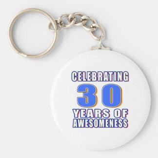 Celebrating 30 years of awesomeness keychain