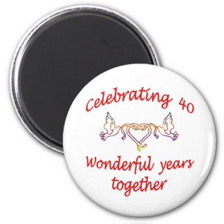 Celebrating 40 years 2 inch round magnet