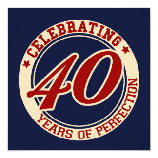 Celebrating 40 years of perfection card