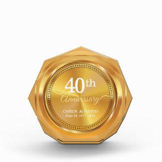 Celebrating 40th Anniversary. Customizable. Acrylic Award