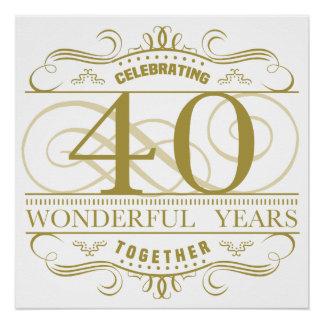 Celebrating 40th Anniversary Poster