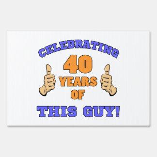 Celebrating 40th Birthday For Men Lawn Sign