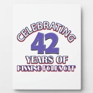 Celebrating 42 years of raising hell photo plaque