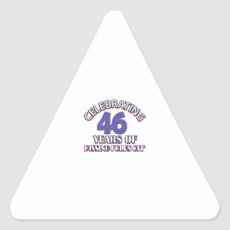 Celebrating 46 years of raising hell triangle stickers